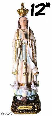 Our Lady of Fatima Statue Catolic Virgin Santa Fatima Statua New (12 Inch) (Fatima-statue)