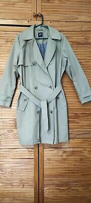 Ladies Womens Gap Beige Trench Coat Size xl Used size 20