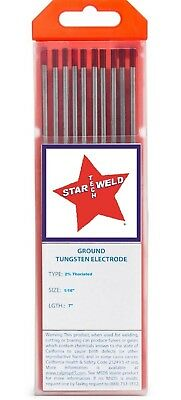 Tungsten 2 Thoriated 116 Electrode For Tig Welding Red Pkg10 New Th16-7