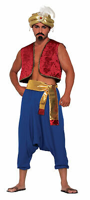 Herren Genie Weste Aladdin Bollywood Kostüm Verkleidung Zubehör - Aladdin Kostüm Herren
