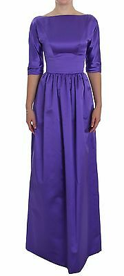 NWT $5000 DOLCE & GABBANA Dress Purple Silk Ball Gown Full Length IT40 / US6 / S