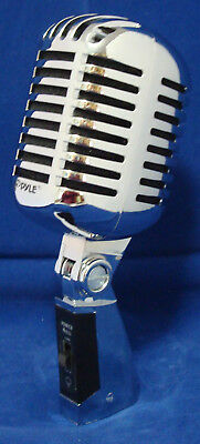 Silver Retro Professional Dynamic Stand MICROPHONE Band DJ Karaoke Vocal PA Mic