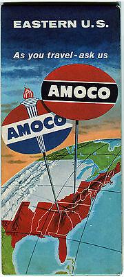 1959 Amoco Eastern US Vintage Road Map