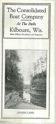 Brochure for Consolidated Boat Company Kilbourn Wisconsin Dells
