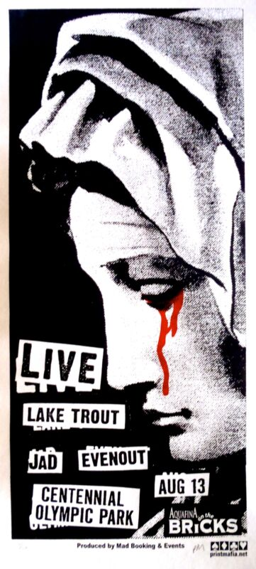 Live Concert Poster 2004 Print Mafia