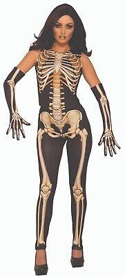 Forum Neuheiten Damen Knochen Skelett Damen Halloween Kostüm Einheitsgröße - Forum Neuheiten Kostüm