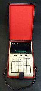 Vintage Rare Friden 1200 VFD 8 Digit Calculator w/ Case Singer Sewing Machine Co