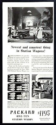 Used, 1940 Packard One-Ten 8-Passenger Woody Station Wagon art vintage print ad for sale  Skippack