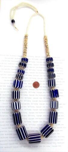 Antique CHEVRON Trade Beads Strand Necklace  Great Price  Collection # 1875