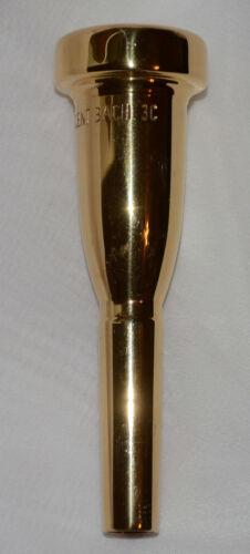 BACH 3C megatone  trumpet mouthpiece 26 throat GOLD PLATE