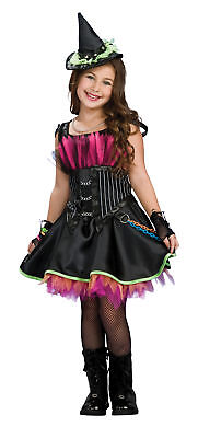 Rockin Out Witch Child Costume Wicked Punk Drama Queens Fancy Dress Halloween