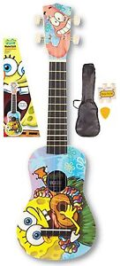 SPONGEBOB SQUAREPANTS UKULELE +BAG, PICK & TUNER