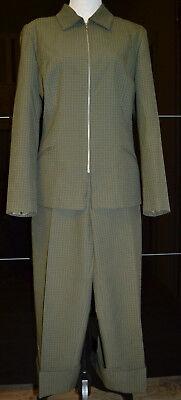 2 in 1 Damen-Anzüge & Kombinationen Tollen Jacket Blazer & Hose 44 Grün- Kariert