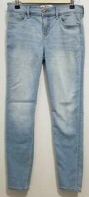 Girls 15/16 Super Skinny Blue Jeans By Abercrombie Kids