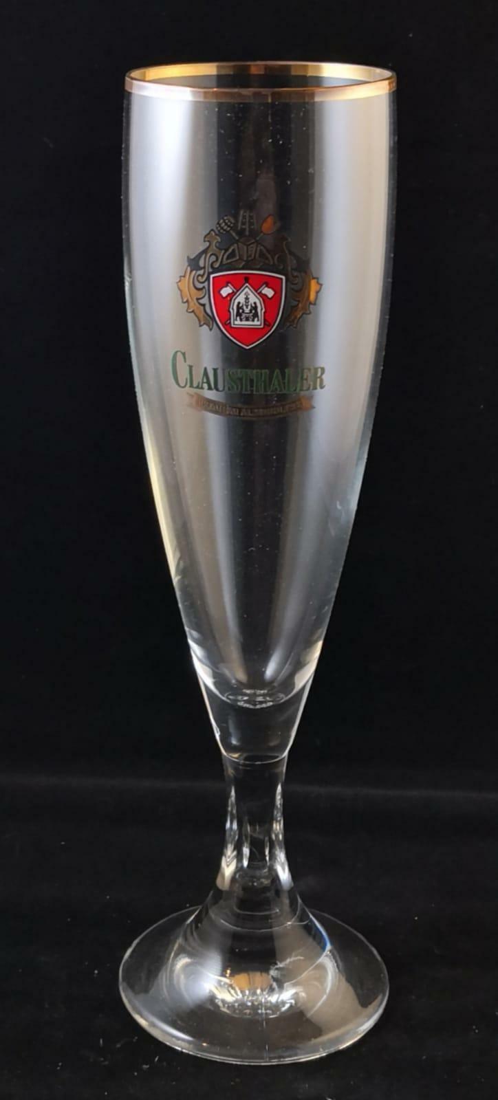 2 Clausthaler Premium Alkoholfrei Biergläser, 0,2 l, Glas,  Bistro, 2 Stück