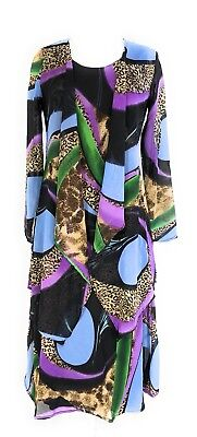 Womens Plus Size Printed Two Piece Duster Jacket Dress Sets Sizes 1X   2X Nwt
