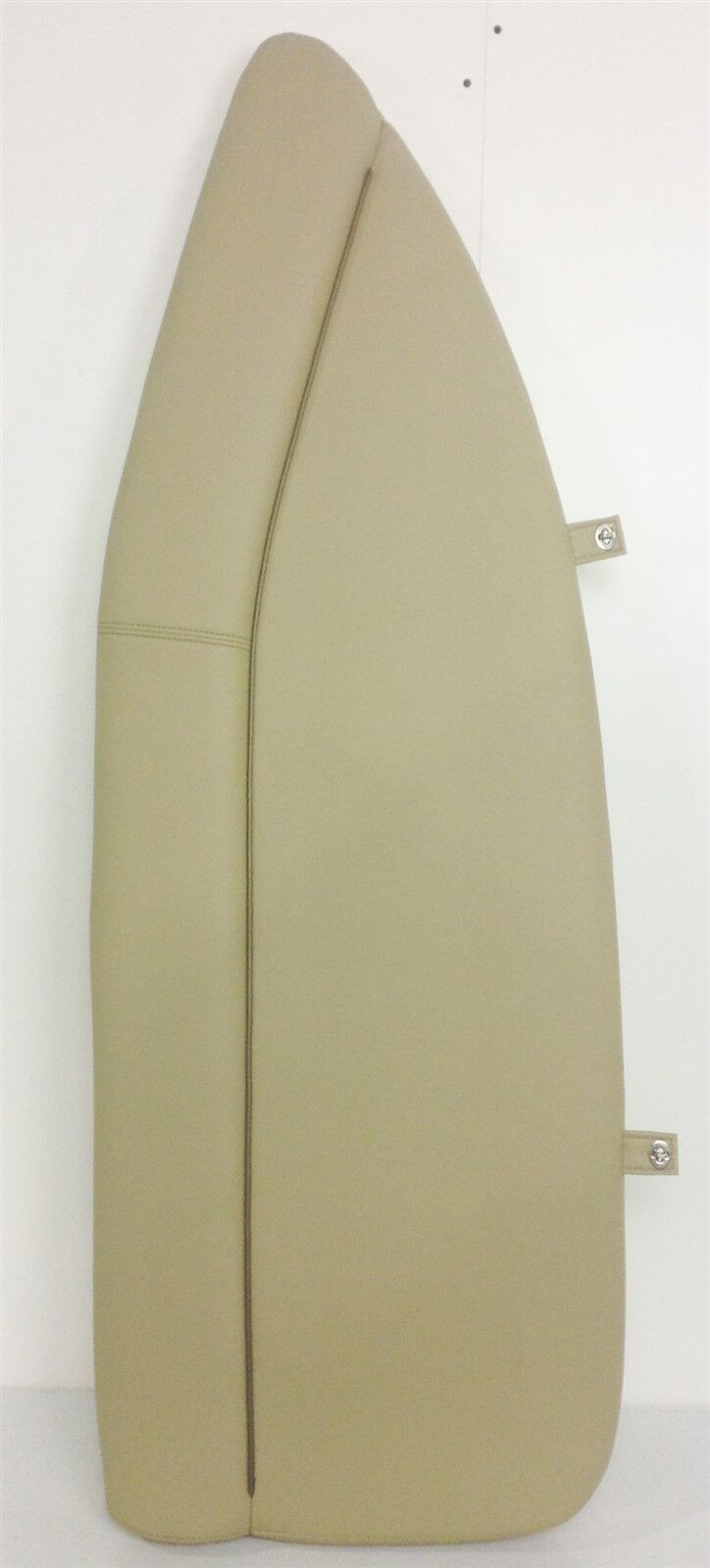 NEW Sportsman Boats Bow Cushion Starboard Tan W/ Brown Accent Strip And Snaps