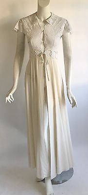 vtg 1930s SAKS FIFTH art deco bias cut silk wedding trousseau goddess peignor