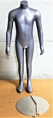 42 Child Headless Mannequin Magnetic Arms Torso Form Grey