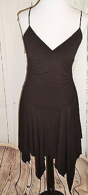Womens Fairy Dress (Womens Taboo Black Poly Lycra Fairy Pixie Hem Party Dress Sz S LBD Holiday)