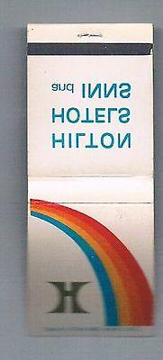 Hilton Hotels   Inns Unused Vintage Matchbook Rainbow
