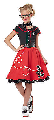 Child 50's Sweetheart Poodle Grease Girls Costume
