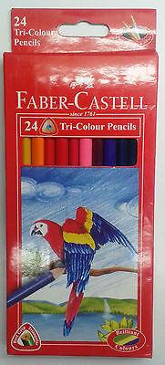 Faber-Castell :: 24 Tri-Colour Pencils :: Best Grip :: Triangular : Color Pencil