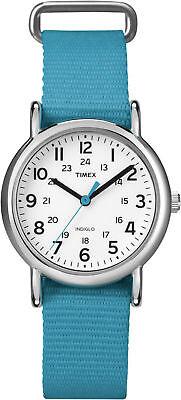 "Timex T2N836, Women's ""Weekender"" Blue Fabric Watch, Indiglo, 31MM"