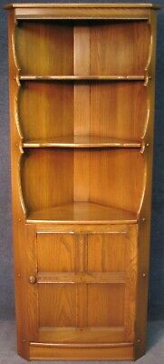 Ercol Elm Old Colonial Corner Cabinet In Golden Dawn
