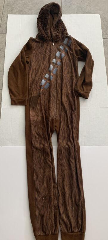 Star Wars Chewbacca Chewie 14/16 boys  Hooded One Piece Pajama Costume (as is)