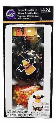 1X Wilton Candy Corn Themed Cupcake Decorating Kits -24 Cupcakes Total Halloween](Candy Corn Halloween Cupcakes)
