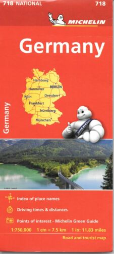 Michelin Map of Germany, Michelin Map # 718