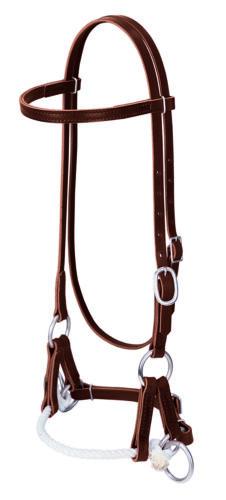 Weaver Leather Deluxe Latigo Leather Single Rope Side Pull Western,10-0294