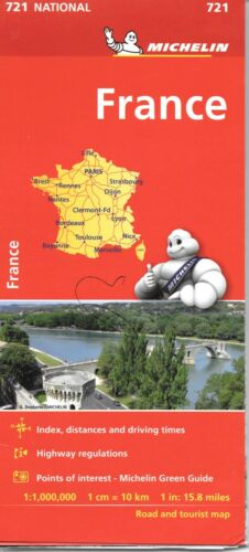 Michelin Map of France, Michelin Map # 721