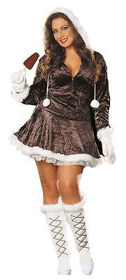 Sexy Eskimo Cutie Halloween Costume Womens Adult Plus Size 1x/2x Party Cosplay