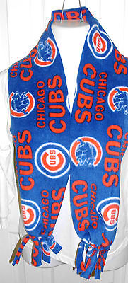 New Handmade fleece scarf Listing # S181 Chicago Cubs