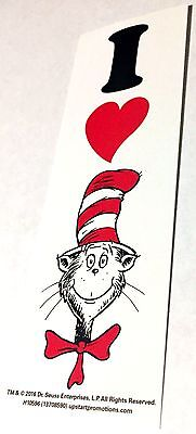 NEW! 24 DR. SEUSS I HEART THE CAT IN THE HAT BOOKMARKS PARTY REWARDS BOOKCLUBS