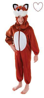 Niños Fantástico Fox Animales de Bosque Infantil Carnaval Disfraz