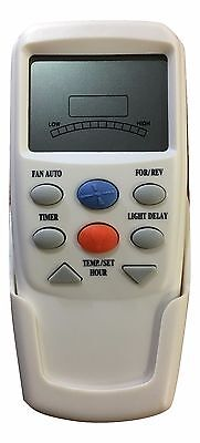 Hampton Bay Ceiling Fan Remote CHQ7096T with REVERSE (For Up & Down Light Fans)