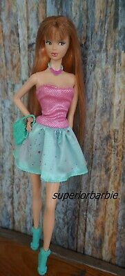 FASHIONISTAS Strapless Party Dress and Mint Green Accessories