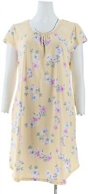 Carole Hochman Dream Floral Cotton Jersey Sleepshirt Yellow 2X NEW A302167