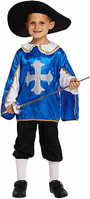 Child Boys Musketeer Fancy Dress Kids Dressing Up Outfit Costume Age 4-12 New - Costumes 4 U