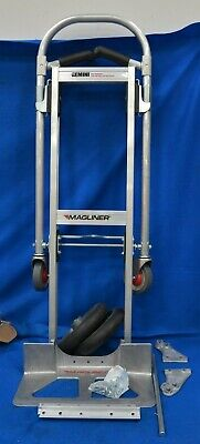 Magliner 59uy85 Aluminum Hand Truck 500 Lb Capacity 10 Wheels
