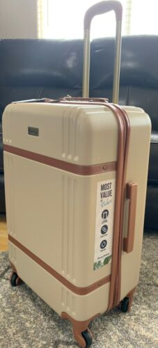 "Tommy Bahama 20""Tan Brown Maya Bay Collection Suitcase NWT $280"
