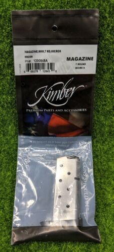 Kimber Micro 9, 9mm, 7 Round OEM Extended Magazine, Stainless Steel - 1200845A