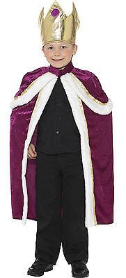 Boys Kids Kiddy King Prince Royal Christmas Xmas Nativity Fancy Dress Costume