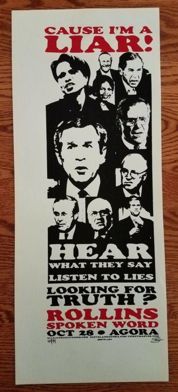 Henry Rollins Poster Black Flag Cleveland spoken word -cause I