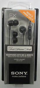 Sony-DR-EX12iP-Ext-Bass-iPod-iPhone-Ear-Buds-w-Volume-Control-DREX12iP-Black