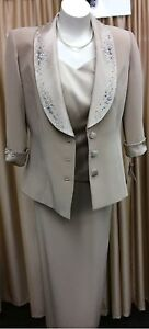 3 Piece Skirt Suit - Fully Lined - Diamantes Embroidery Toowoomba Toowoomba City Preview
