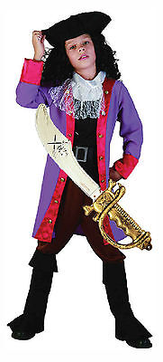 PIRATE CAPTAIN HOOK Fancy Dress Costume Outfit Hat & Sword (Captain Hook Hat)